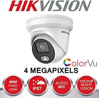 Hikvision DS-2CD2347G1-LU - Cámara de vigilancia para Exteriores (4 MP IP PoE CCTV cámara de Domo HD 4 mm) Color Azul