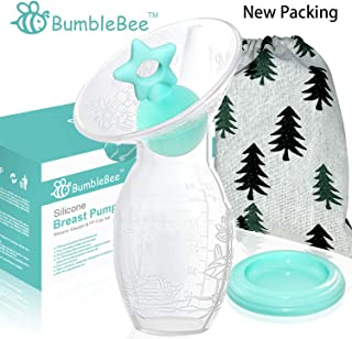 Bumblebee Breast Pump Manual Breast Pump Breastfeeding with Pump Stopper lid Pouch in Gift Box bpa Free & Silicone Breast Pump