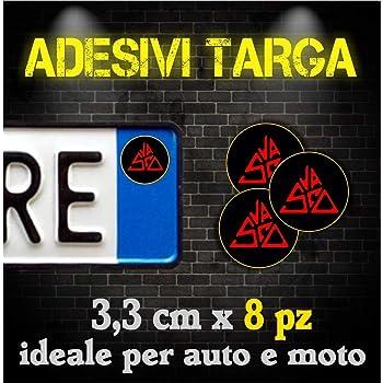 2 ADESIVI VASCO ROSSI BLASCO DECALCOMANIA COLORE ROSSO AUTO MOTO TUNING