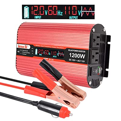 Car Power Inverter, imoli 1200W/2400W(Peak) DC ...
