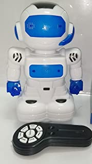 A remote control robot walks and sings