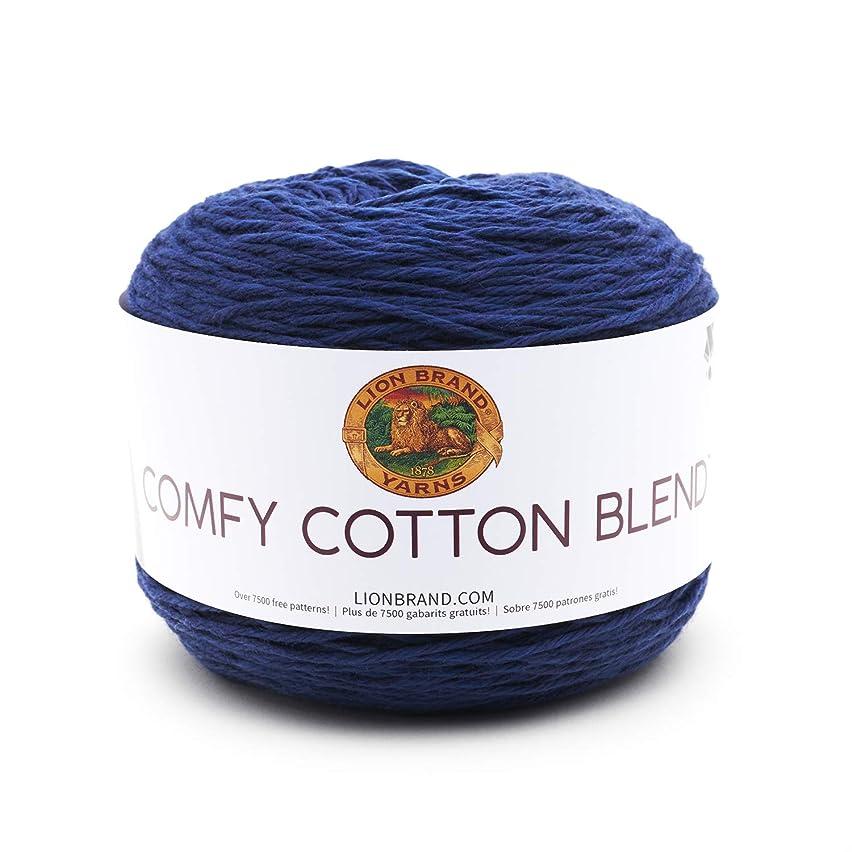 Lion Brand Yarn Company 756-110 Comfy Cotton Blend Yarn, Spectrum, Spectrun