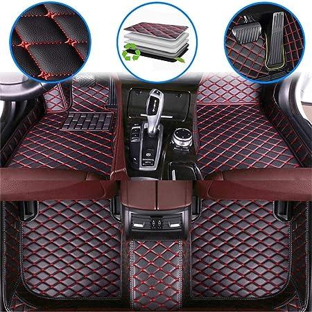 Fußmatten Für 99 Automodelle Fussmatten Rutschfeste Abnutzung Bodenmatten Leder Material Automatten Teppiche Schwarz Rot Auto
