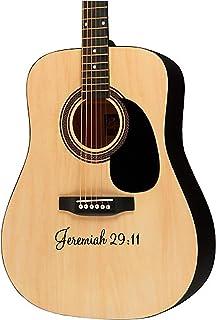 Guitar sticker decal -Jeremiah 29:11 - violin electric guitar ukulele designs