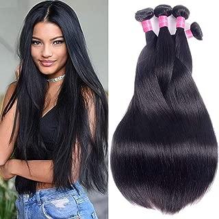 Brazilian Straight Hair 4 Bundles 10A Grade Unprocessed Brazilian Virgin Hair Weave Bundles Straight Human Hair Extensions 16 18 20 22 inches Natural Color