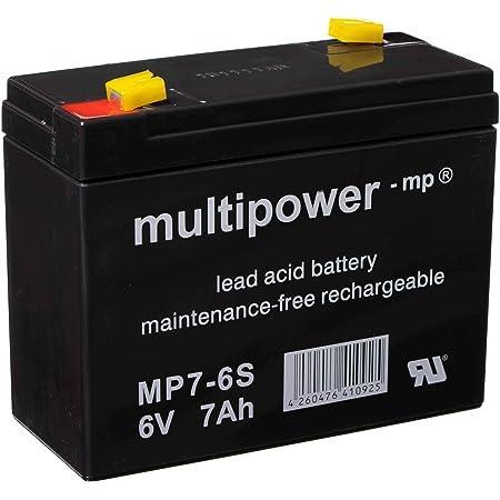 Batterie 6v 7ah Multipower Gelbatterie Blei Akku Auto