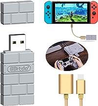 XAMMUE 8Bitdo Wireless Controller Adapter for Nintendo Switch/Windows/Mac/Playstation Classic Console/Raspberry Pi,with OT...