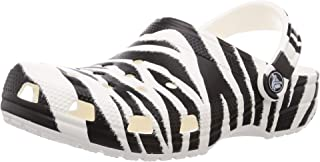 Crocs Men's and Women's Classic Animal Clog|Zebra and Leopard Print Shoes
