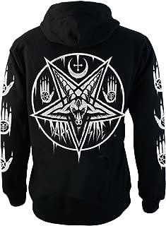 Darkside Clothing Pentagram Baphomet Fleece Hoodie Black Zip