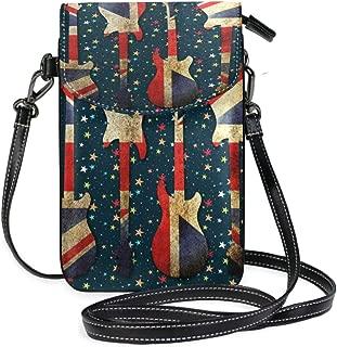 CHLBOJ Cuban Flag Lightweight PU Leather Small Crossbody Bag Cell Phone Purses