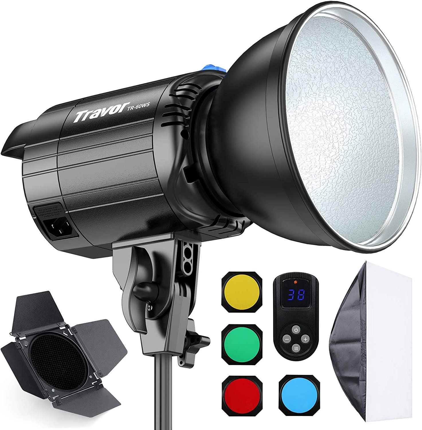 LED Video Light Travor Max 52% OFF 60W Dimmable COB Continuous Latest item Bowens