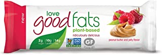 Love Food Fats - Plant Based Bars - Peanut Butter & Jelly - Vegan, Keto Friendly, Low Carb, Low Sugar, Gluten-Free, Non GMO - 1.38 Ounce (12 Pack)