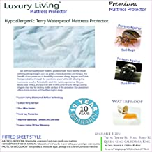 Royal Hotel Premium Hypoallergenic Breathable Mattress Protector, Waterproof MATTRESS PROTECTOR, Bed Bug proof, dust mites proof, Fitted style up to 18 inches Deep Mattress, Queen