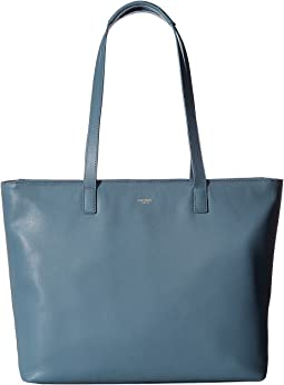 KNOMO London - Mayfair Luxe Maddox Top-Zip Leather Tote