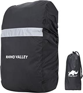Rhino Valley Waterproof Backpack Rain Cover, 15L-35L, 35L-55L Outdoor Splashproof Rucksack Cover with Reflective Strip for Hiking, Camping, Climbing, Cycling and Trekking