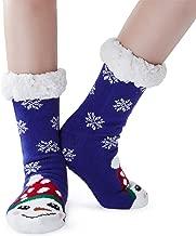 Goodstoworld Women's Fleece-lined Christmas Slipper Socks Non Slip Fuzzy Cozy Funny Animal Soft Warm Socks