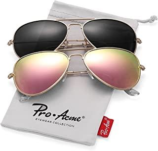 8cc2bc41607 Pro Acme Classic Polarized Aviator Sunglasses for Men and Women UV400  Protection
