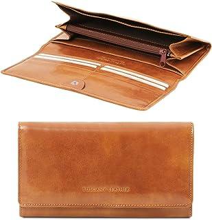 Tuscany Leather Esclusivo portafogli in pelle da donna con soffietti Miele