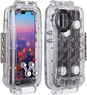 جراب PULUZ 40m / 130ft الذكي مقاوم للماء لهاتف Huawei P20 Pro Deep Sea Diving Case يدعم الصدمات والجليد والغبار IP68 واقي ...