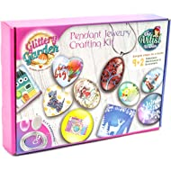 Girls Jewelry Making Kit. DIY Necklace Pendant and Bracelet Crafting Set with Glass Beads and...