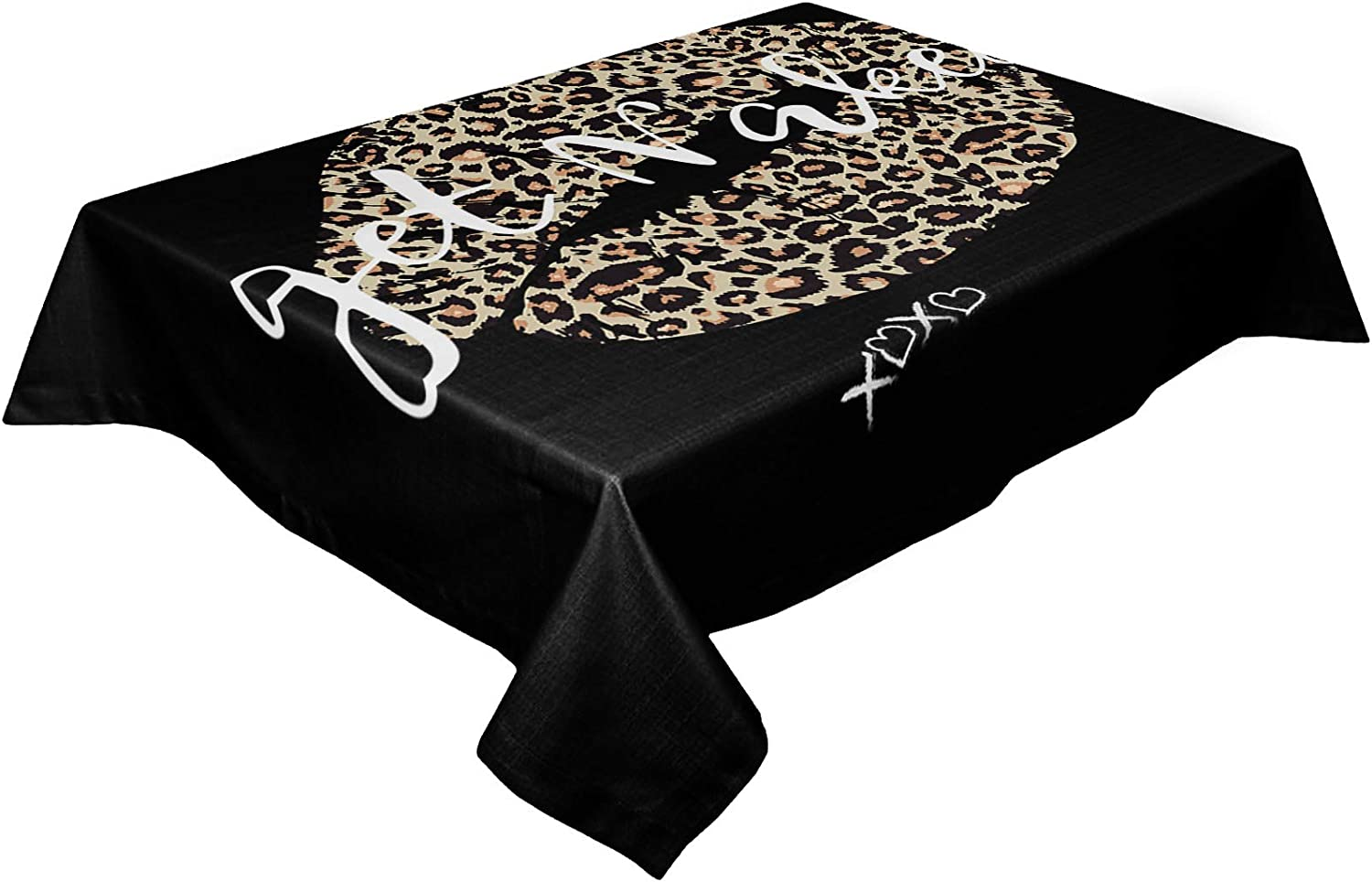 HELLOWINK Rectangle Table Cloths Sexy Print Direct sale of manufacturer Ranking TOP13 Leopard 60x120inch