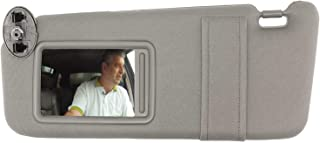 SAILEAD Left Driver Side Sun Visor for 2007 2008 2009 2010 2011 Toyota Camry and Camry Hybird Without Sunroof and Light, Gray, LH