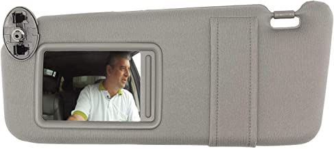 SAILEAD Left Driver Side Sun Visor for 2007 2008 2009 2010 2011 Toyota Camry and Camry Hybrid Without Sunroof and Light, Gray, LH