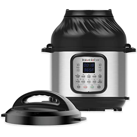 Instant Pot Duo Crisp 11 in 1, Electric Pressure Cooker with Air Fryer, Roast, Bake, Dehydrate, Slow Cook, Rice Cooker, Steamer, Saute, 8 Quart, 14 One-Touch Programs