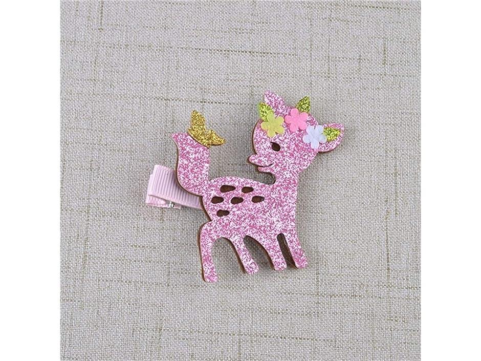 タヒチ反逆法律によりOsize 美しいスタイル 子供のヘアアクセサリー動物のヘアピンちょう結びシカの鹿ヘアピン(鹿)