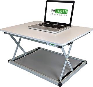 CHANGEdesk MINI small standing desk converter simple affordable adjustable height desktop riser for laptops single compute...