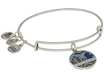 Alex and Ani Places We Love Michigan Bangle (Rafaelian Silver) Bracelet