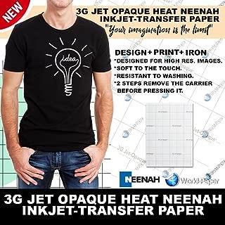 Best 3g jet opaque heat transfer paper temperature Reviews