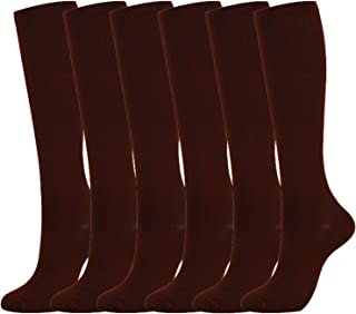 6 Pairs of Man's and Woman's Sports Compression Socks (15-20mmHg) for Best Athletic,Circulation & Recovery
