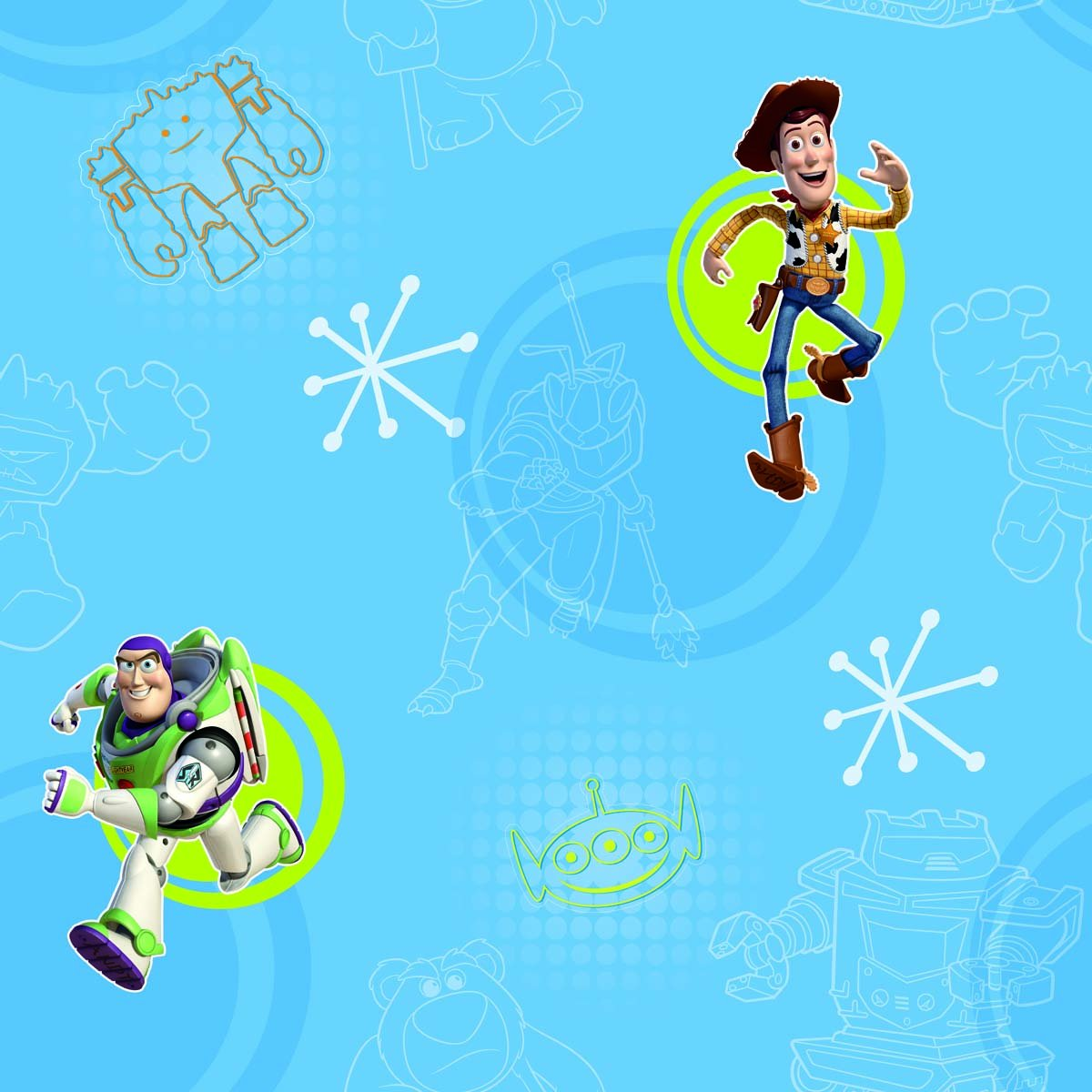Disney Toy Story 3 Kids Wallpaper Playroom Bedroom Amazon Co Uk Diy Tools