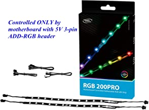 DEEP COOL RGB 200PRO Addressable RGB LED Strip, SYNC Controlled via 5V 3-pin ADD-RGB Header on Motherboard, SYNC with Other 5V ADD-RGB Devices