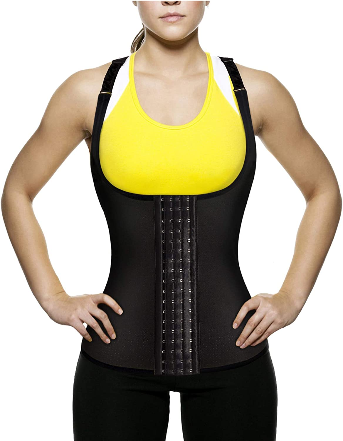 Ursexyly Women's Waist Trainer Tank Top Slimming Vest Tummy Fat Burner