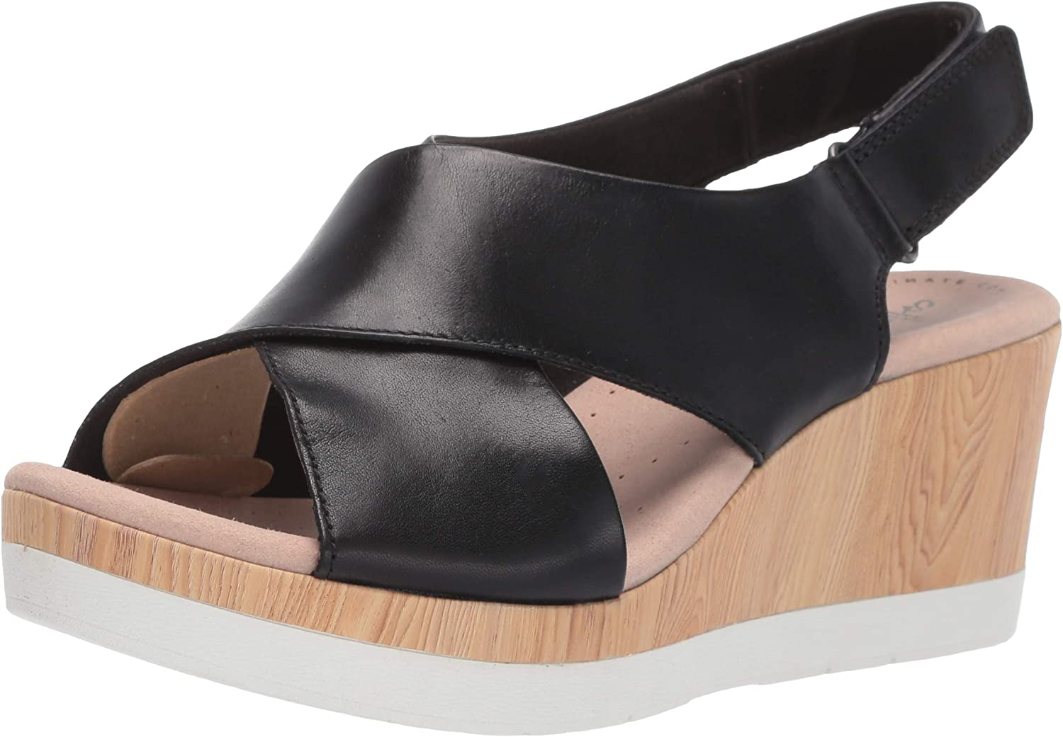 Clarks Womens Cammy Pearl Platform & Wedge Sandals