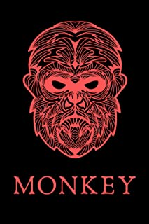 Monkey Face Notebook: Ape Man | Gorilla | Chimp | Savage Primate Behavior & Evolution Notes