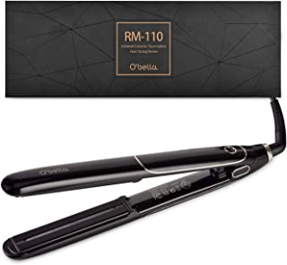 O'Bella Hair Straighteners Dual Voltage,with Digital LCD Display, 30's heat up to 230℉, Heat resistant gloves