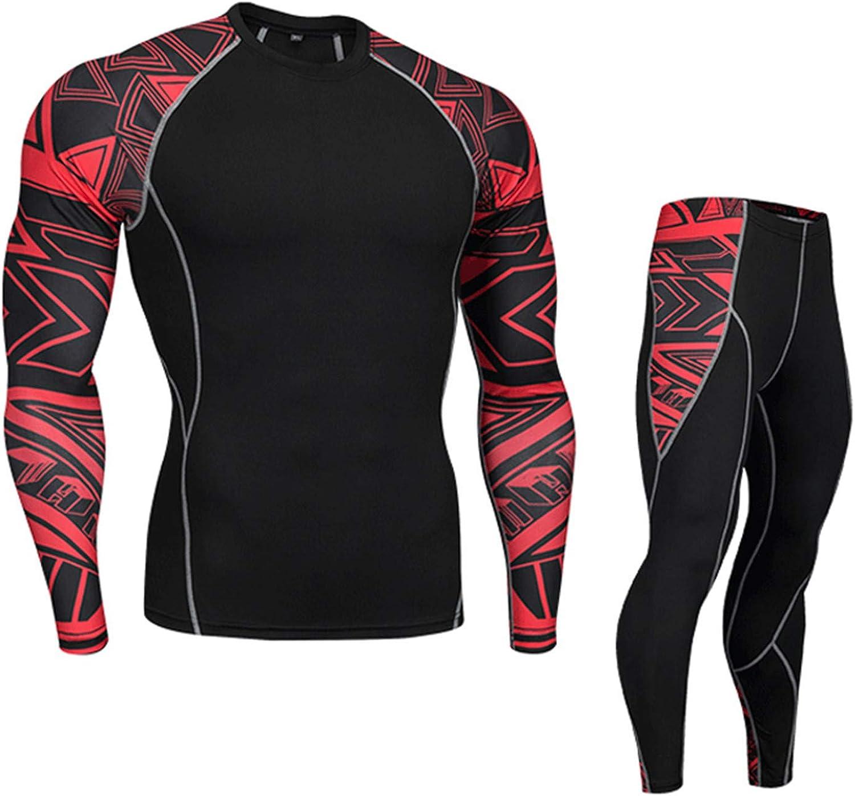 Thermal Underwear Men Jogging Skins Compression Shirts Leggings Sports Sets