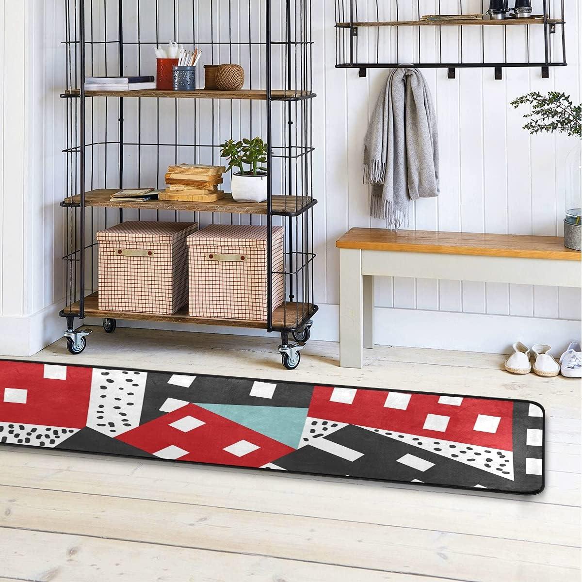 Topics on TV MALPLENA Reverse Color Houses Kitchen Runner R New mail order Rug Modern