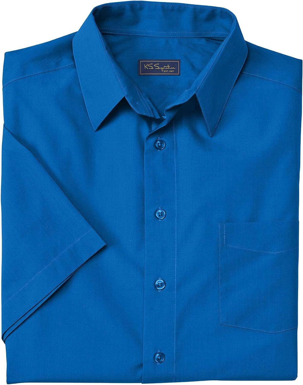 KingSize KS Signature Men's Big & Tall No Hassle Short-Sleeve Dress Shirt