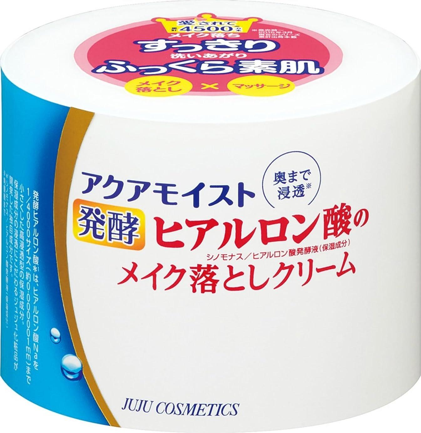 出身地追う失業者アクアモイスト 発酵ヒアルロン酸のメイク落としクリーム 160g