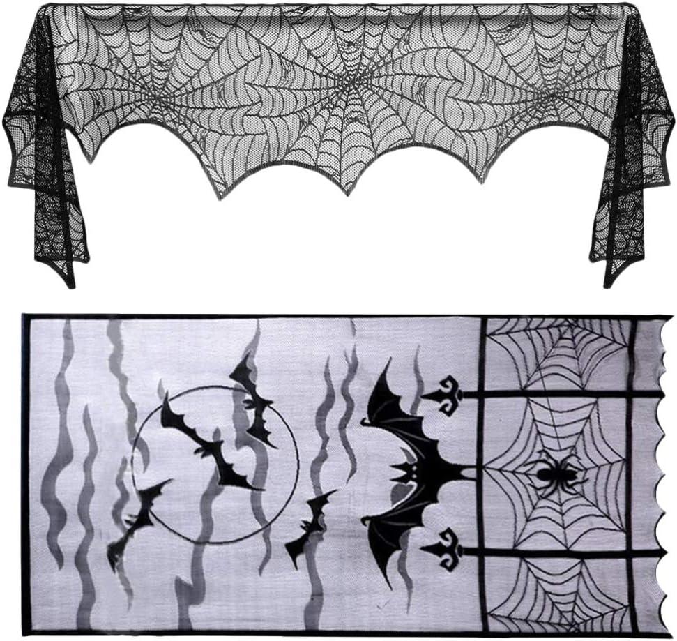 BESPORTBLE 1 Set Halloween Decorations Spiderweb Door Curtain La