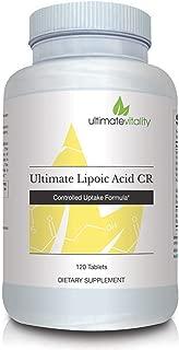 Ultimate Lipoic Acid CR - Alpha Lipoic Acid 800mg Advanced Controlled Uptake Formula with Synergistic Nutrients Biotin, Vitamin C and Zinc - 120 Vegetarian Capsules
