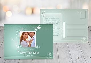 Kartenparadies Hochzeitskarte Save-the-Date Dream, hochwertige Save the Date Date Date Karte zur Hochzeit   80 Karten - (Format  148x105 mm) Farbe  TürkisGrauMatt B01NCXP67J  Kompletter Spezifikationsbereich 38b94f