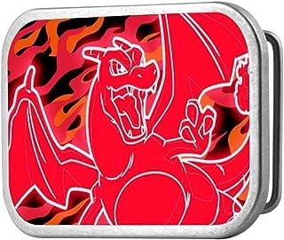 1.5 Wide POKeMON X /& Y FENNEKIN Poses//Flames Black//Reds Buckle-Down Seatbelt Belt 24-38 Inches in Length