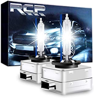 RCP - D1S8 - (A Pair) D1S/ D1R 8000K Xenon HID Replacement Bulb Ice Blue Metal Stents Base 12V Car Headlight Lamps Head Lights 35W