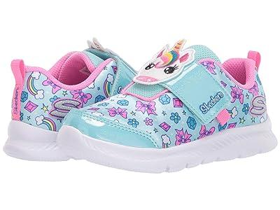 SKECHERS KIDS Sport Comfy Flex 2.0 302102N (Toddler/Little Kid) (Aqua/Pink) Girl