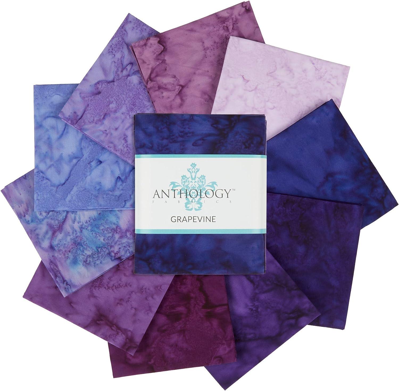 Anthology Fabrics 期間限定お試し価格 Lava Solids Tonal Quarter Fat 10pc Bundle セール特価